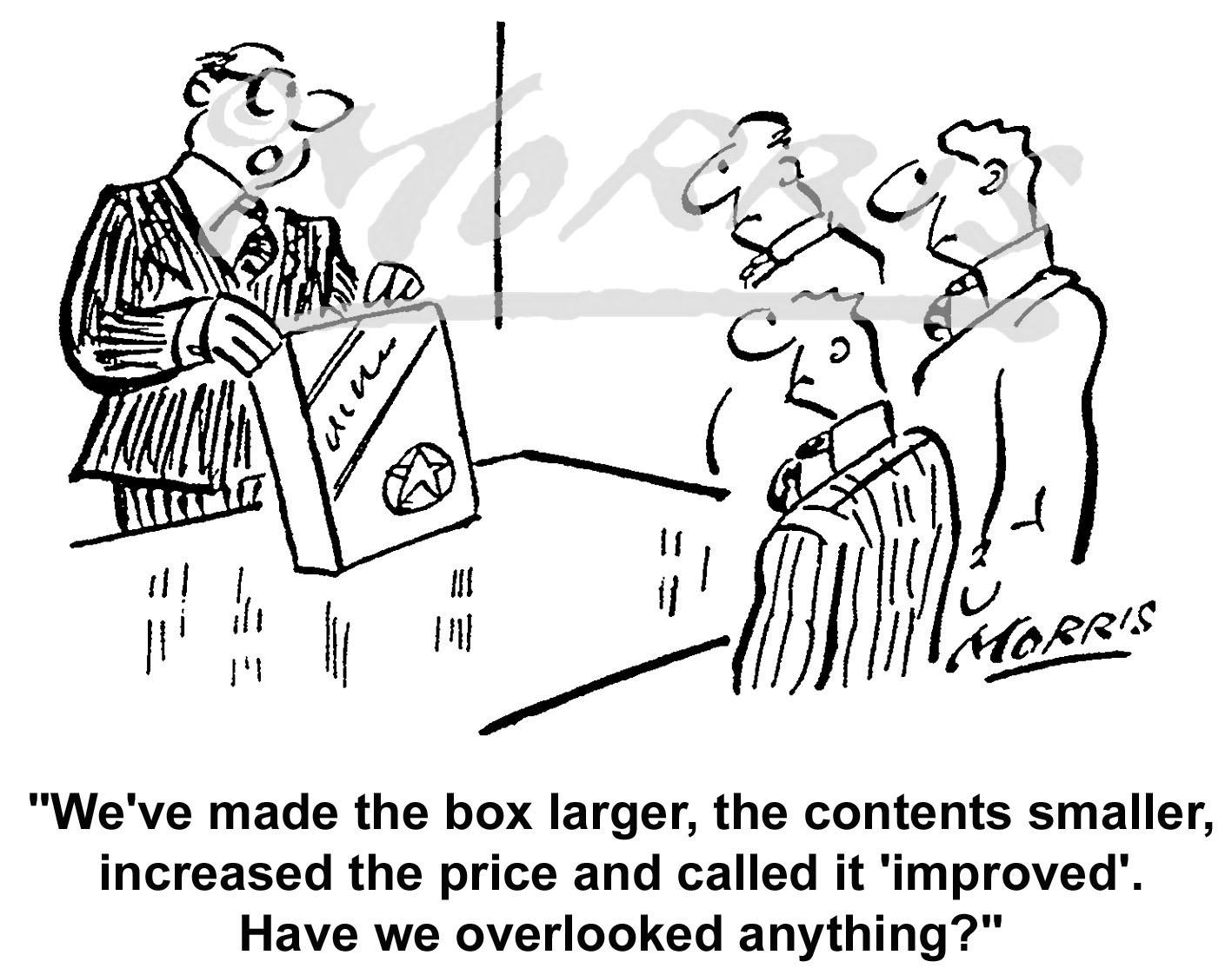 Sales marketing cartoon