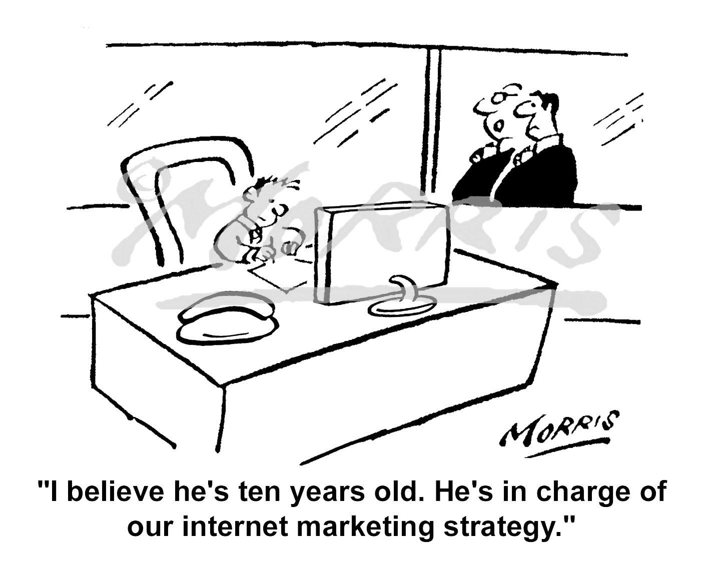Internet Marketing Strategy cartoon