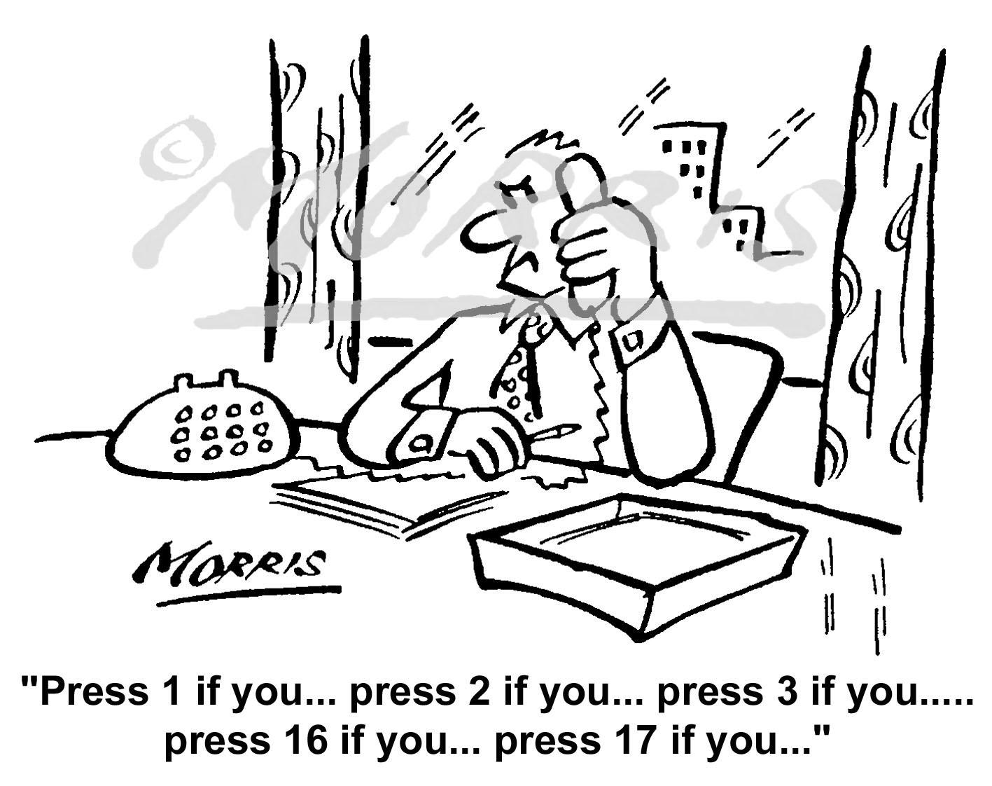 Customer service cartoon, Telephone cartoon