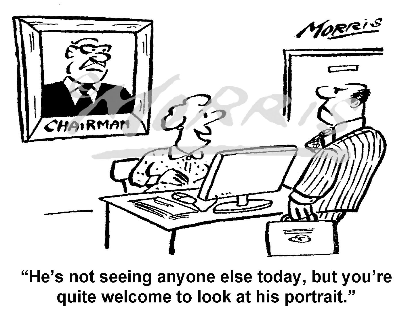 Chairman portrait cartoon