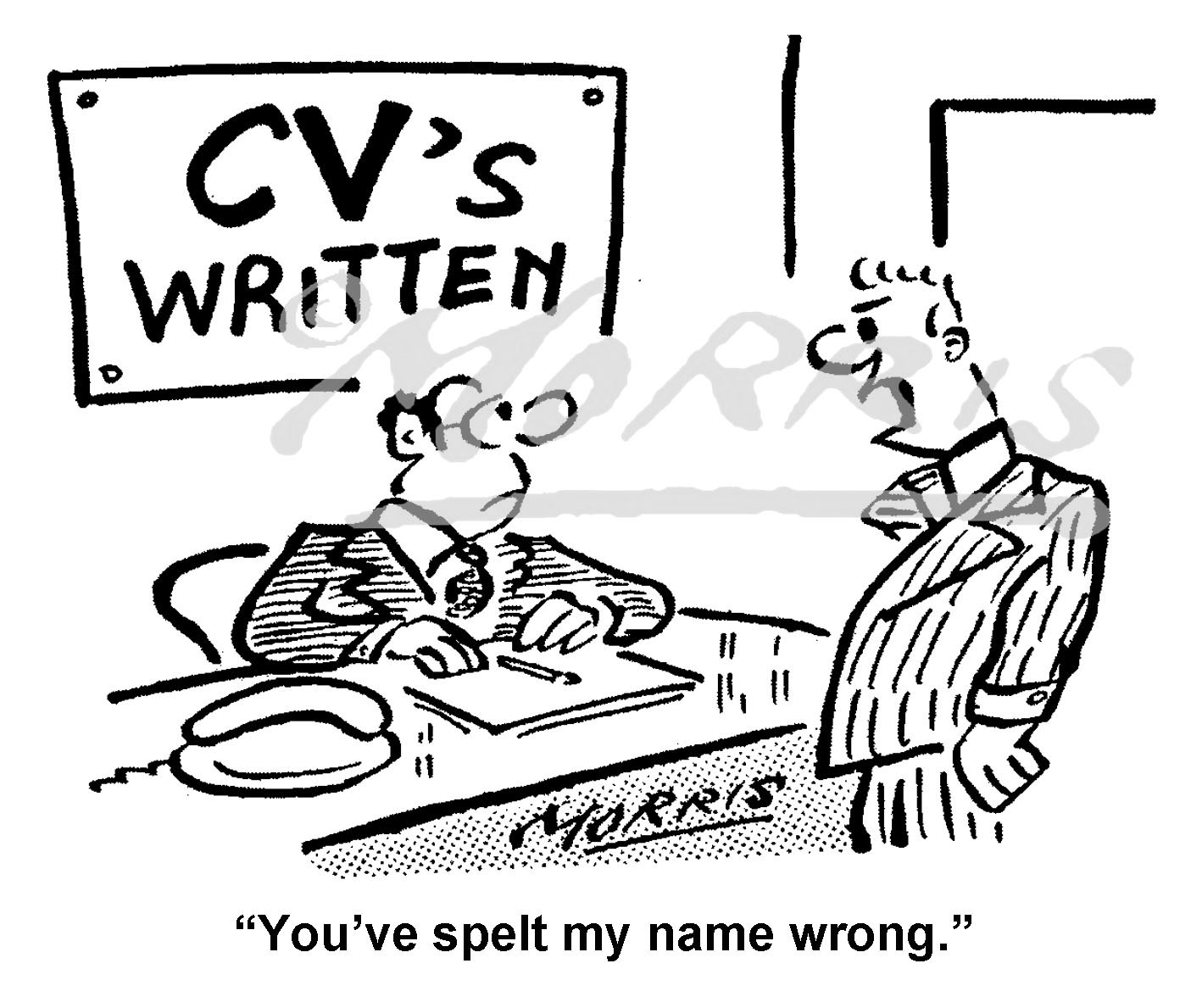 CV cartoon, resume cartoon