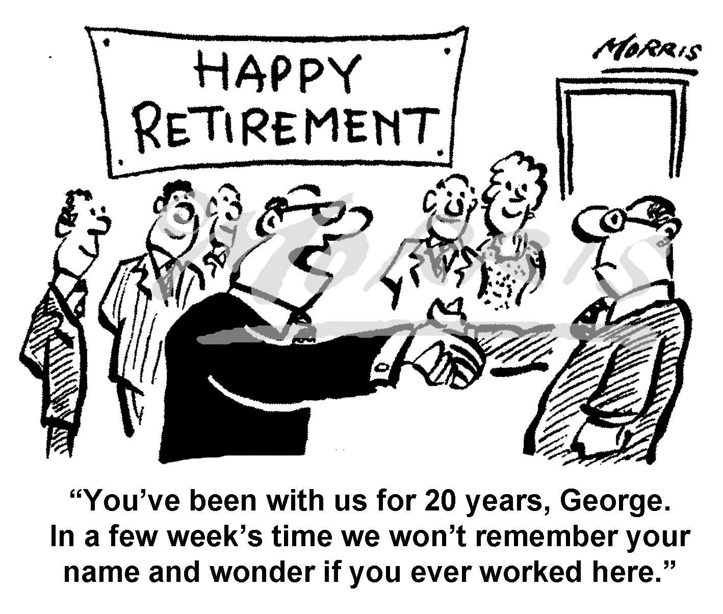 Retirement cartoon, retirement comic