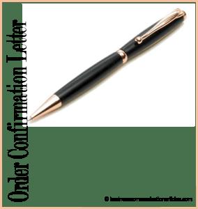 Definition of Order Confirmation Letter