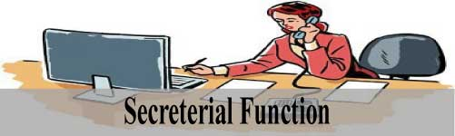 secreterial-function