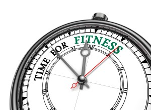 Time For Fitness Motivation On Concept Clock