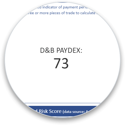 D&B PAYDEX Score Add-On bubble image