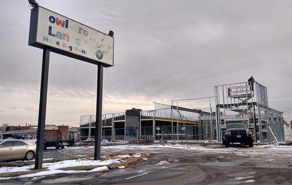 Site work is underway on the former Bowlero bowling alley on Alameda Avenue in Lakewood. (Burl Rolett)