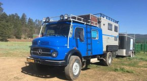 1970s Mercedes firetruck camper creation hits the market