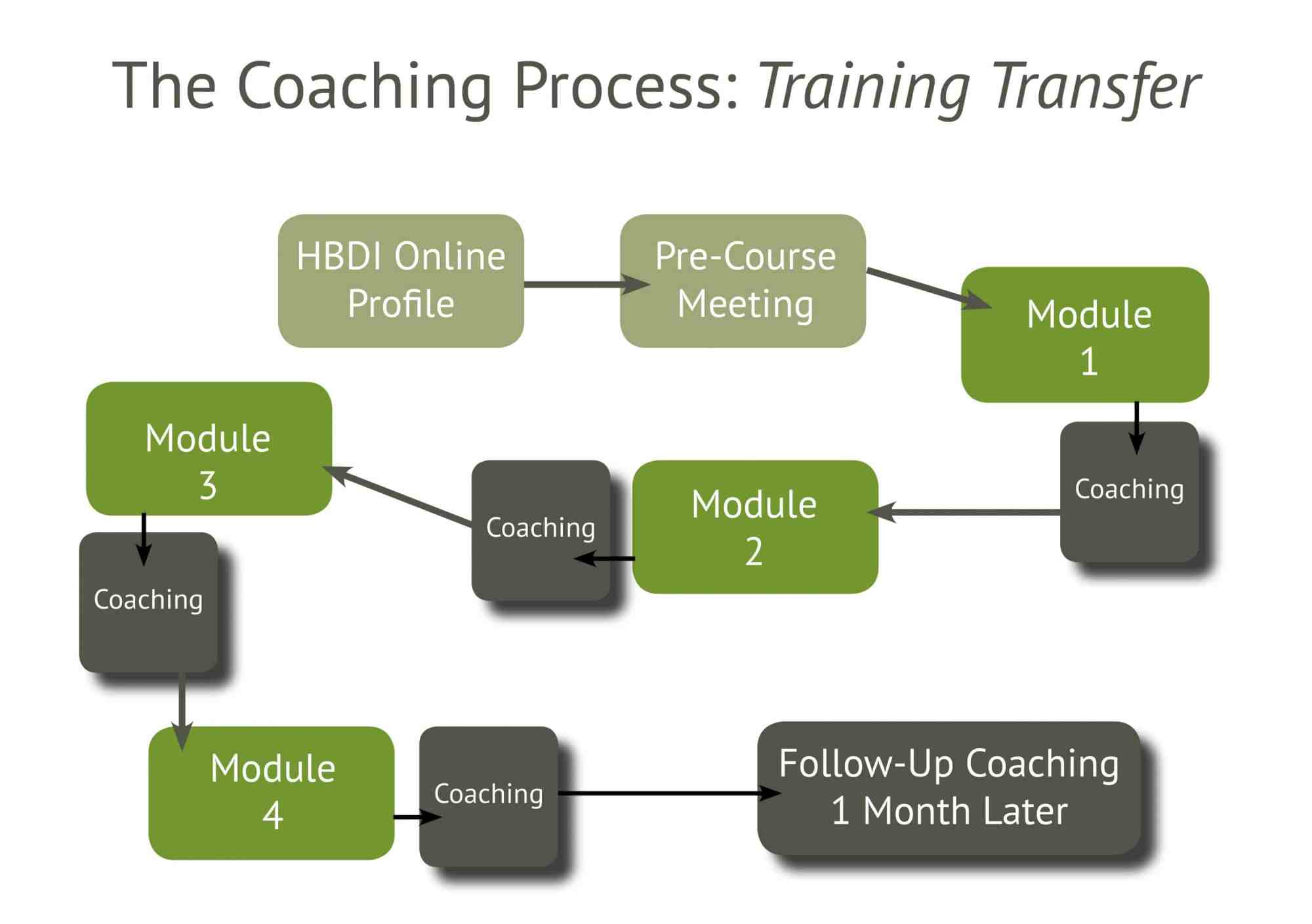 hight resolution of the coaching process training transfer