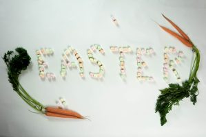 easter-word-made-with-marshmallows-and-carrots