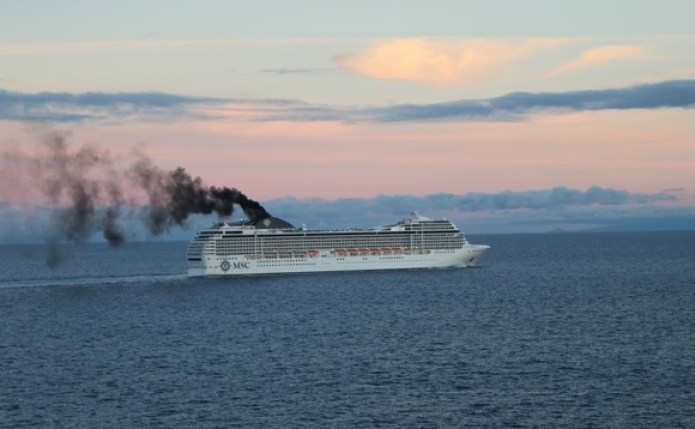 Cruise ship operators are being urged to fit filters to reduce air pollution emissions   Credit: NABU
