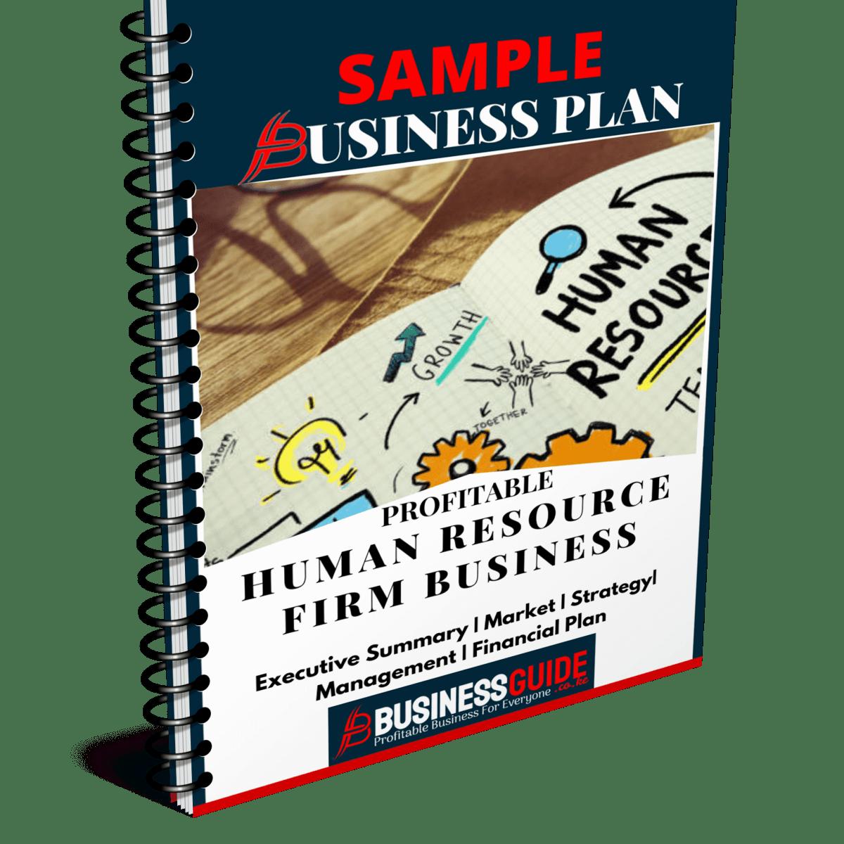 human resource business plan sample