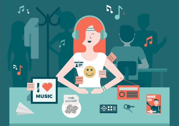 How does music at work impact wellbeing and productivity