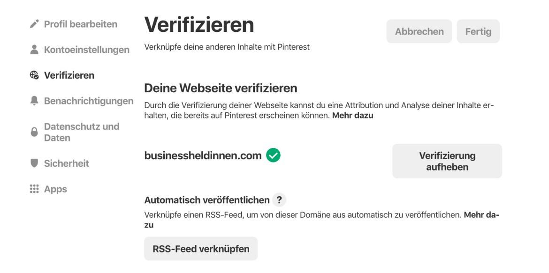 Pinterest als Marketing-Instrument für dein Business: Dein Profil optimal einrichten