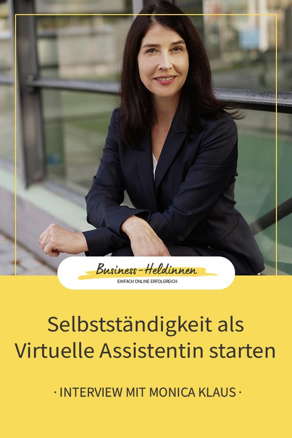 Selbstständigkeit als Virtuelle Assistentin starten - Interview mit Monica Klaus