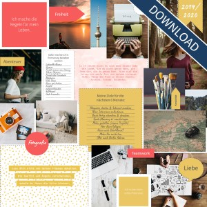 "Vision Board Layout-Set - ""Colors"" (Digital Download)"