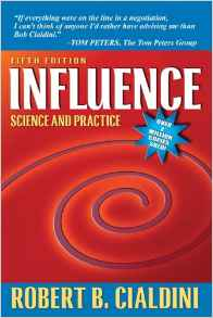 Book by Robert Cialdini - Influence: Science and Practice