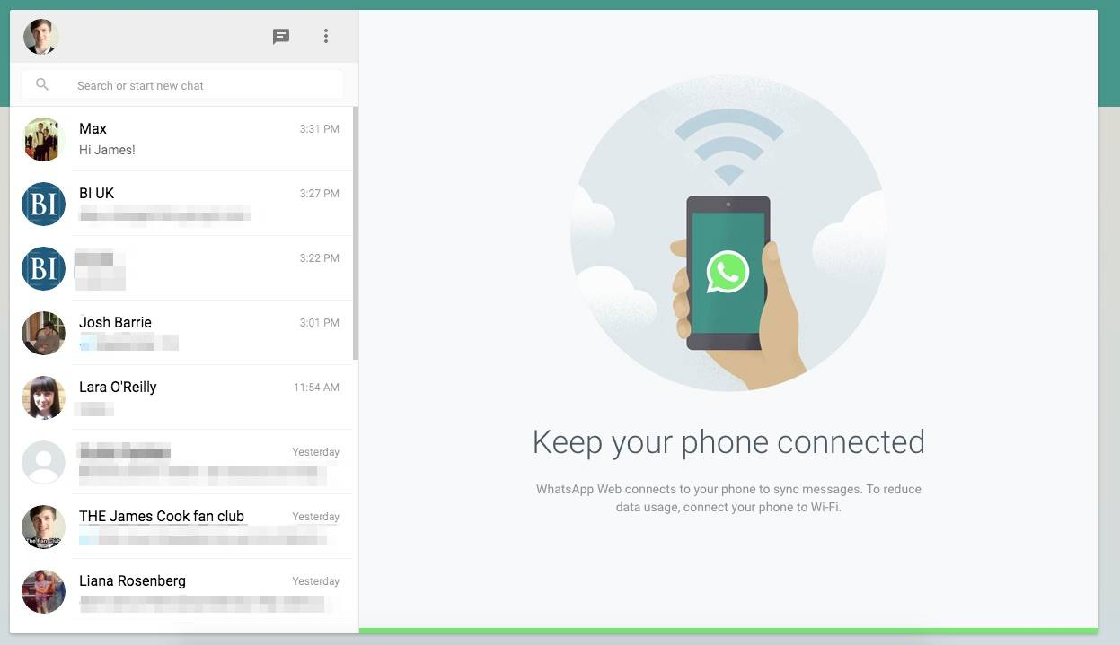 You can access WhatsApp on the web.
