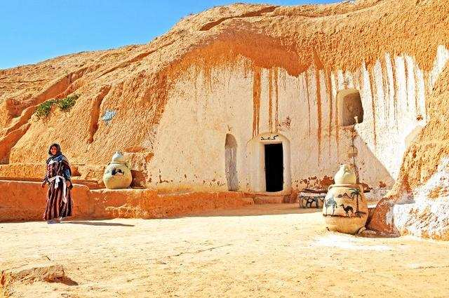 In this southern Tunisia village, locals live in traditional troglodyte dwellings — cave houses — created by scraping away rocks. There is even a subterranean hotel.