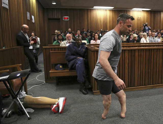 "Olympic athlete Oscar Pistorius was made to remove his prosthetic legs mid-trial by his defence lawyer in a bid to prove he's a ""vulnerable"" man and to avoid a longer jail sentence for killing his girlfriend Reeva Steenkamp. The court case was one of the most closely watched of 2016."