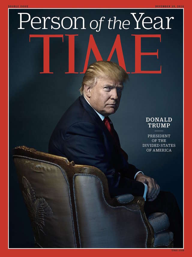 "After one of the ugliest elections in American political history, Donald Trump won the title of Time magazine's Person of the Year. Trump took issue with the publication referring to him as the ""president of the Divided States of America."""