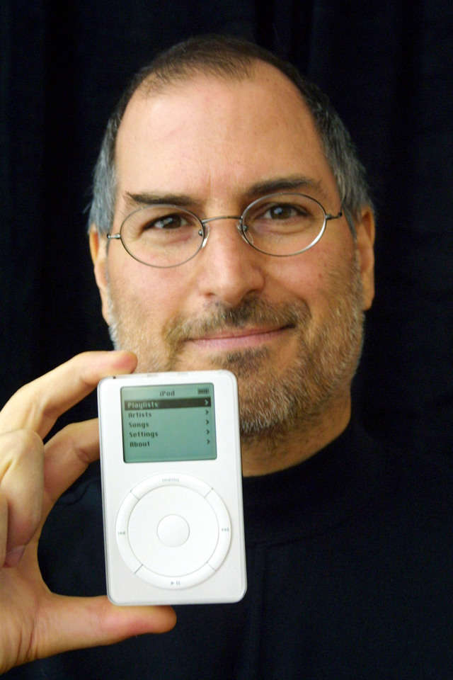 "In October, Jobs' Apple would take its first steps beyond the Mac with the iPod, a digital music player that promised ""1,000 songs in your pocket."" The iPod actually got off to a slow start, largely because it started at a pricey $399 and worked only on Macs."