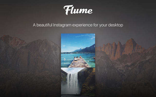 Flume brings all the features of Instagram to your desktop