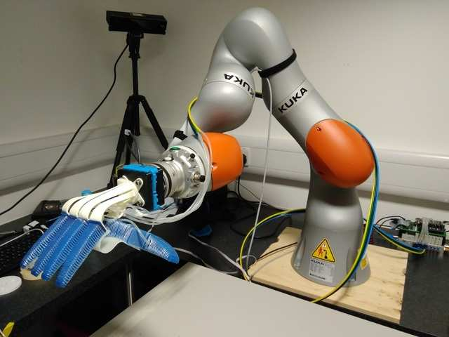 The company, partnering with several European universities, is also developing robotic arms that can pick food.
