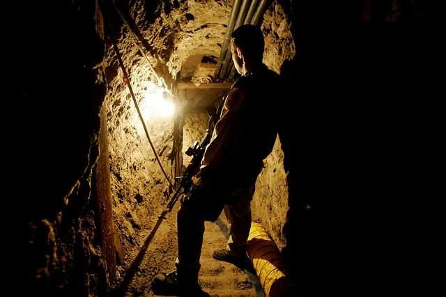 Police discovered this elaborate tunnel, used to smuggle drugs and people into the US, in 2006. The 2,400-foot-long tunnel featured lighting, ventilation, and equipment to pump out ground water.
