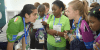Ananya interacting with other delegates in the football championship program