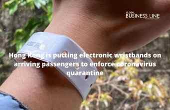 Hong Kong is putting electronic wristbands on arriving passengers to enforce coronavirus quarantine
