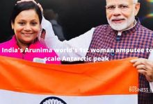 India's Arunima world's 1st woman amputee to scale Antarctic peak