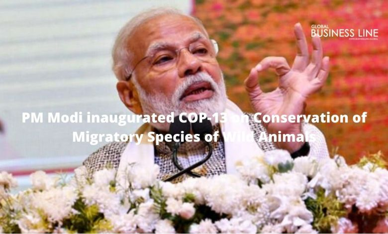 PM Modi inaugurated COP-13 on Conservation of Migratory Species of Wild Animals