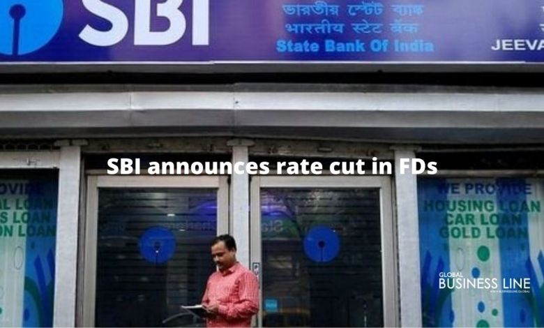 SBI announces rate cut in FDs