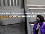 Investor fears rise over recession, bear market as coronavirus spreads in US