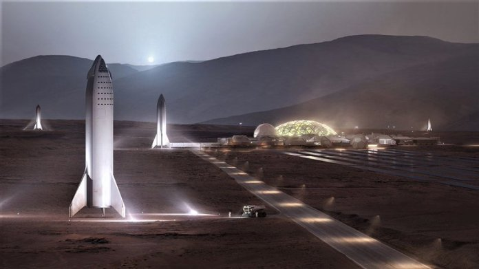 elon musk gives glimpse into spaceX mars base vision