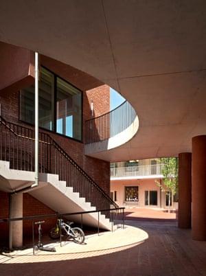 First-floor walkway … inside the courtyard.