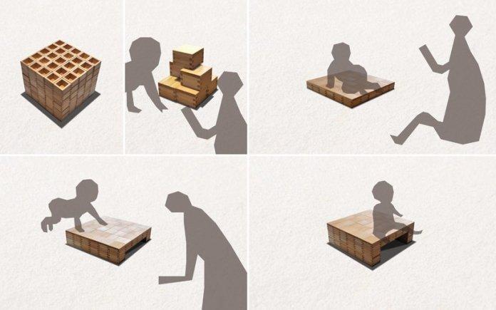 masuisu chair made of japanese traditional wooden box 2