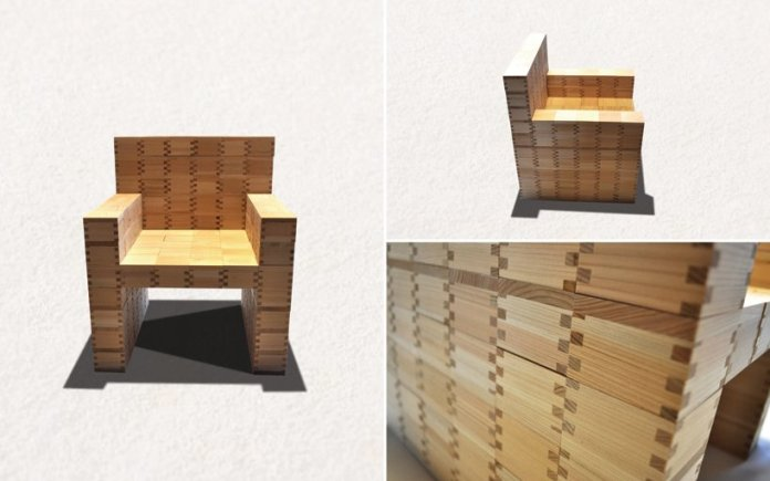 masuisu chair made of japanese traditional wooden box 6