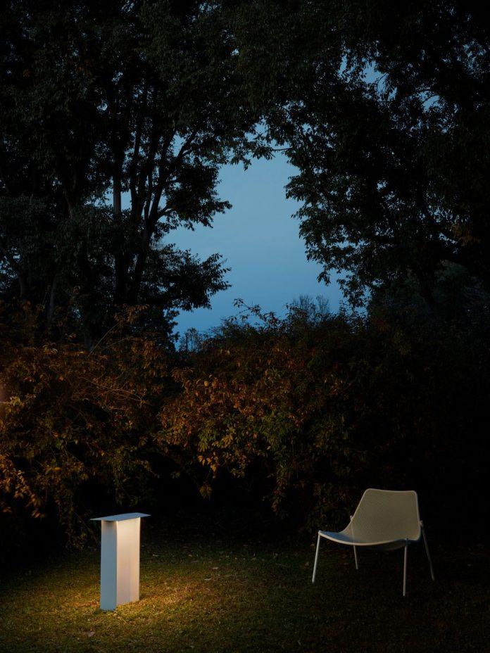 Fienile outdoor bollard by Luceplan