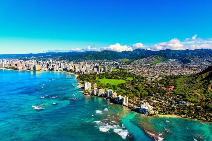 Honolulu Hawaii from Above
