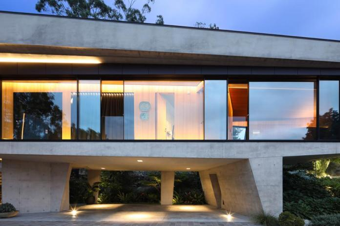 car port at modern home at 25 Neerim Road Castle Cove, Sydney, Australia