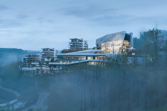 10 design has completed the new wide horizon clubhouse in chongqing china 2