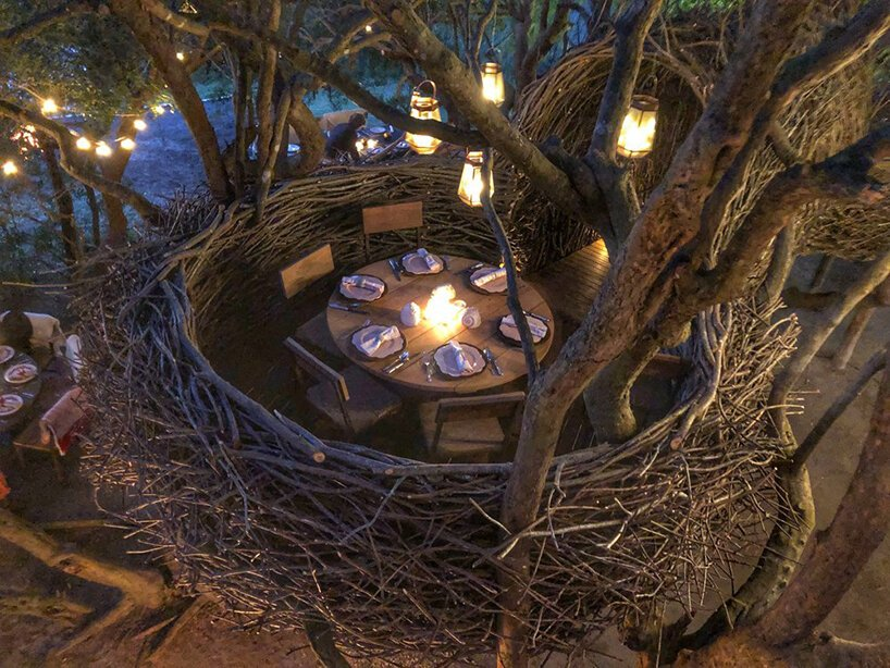 brooklyn-based designer charlie baker weaves enormous nests for humans