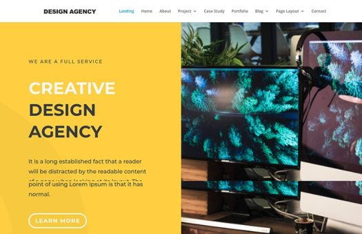 design agency website template