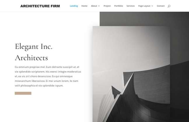 architecture website template