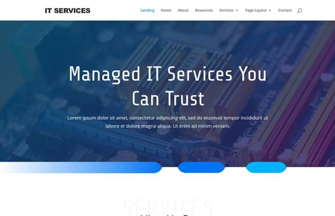 IT service website template