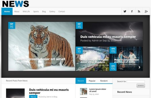 news website template