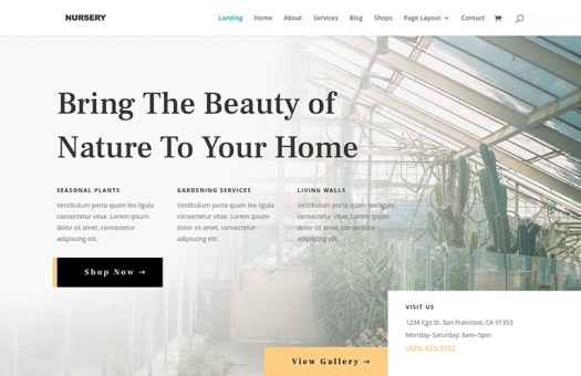 nursery website template