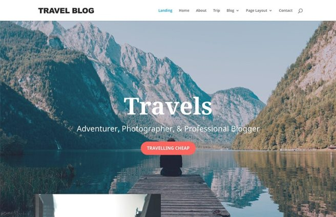 travel blogger website template